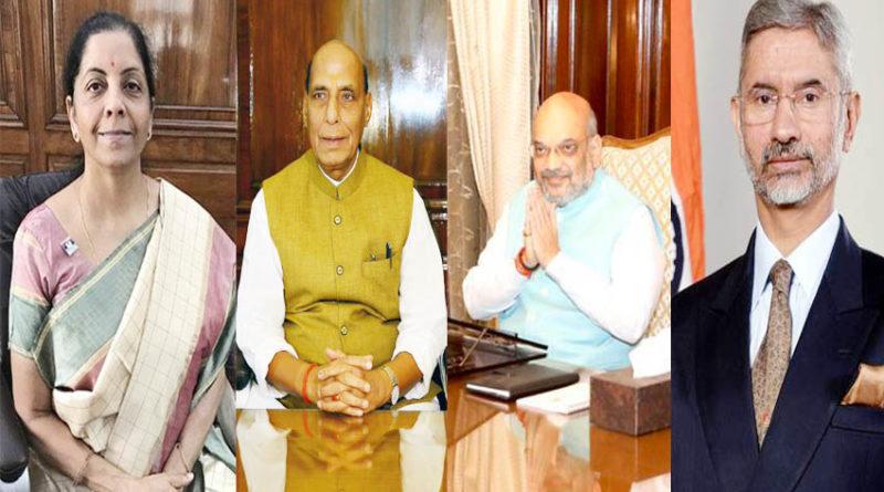 foreign minister s jaishankar defence minister rajnath singh finance minister nirmala sitharaman home minister amit shah