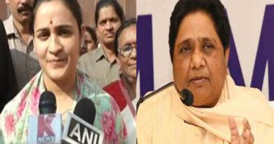 mulayam singh yadav daughter in law aparna yadav attack bsp chief mayawati