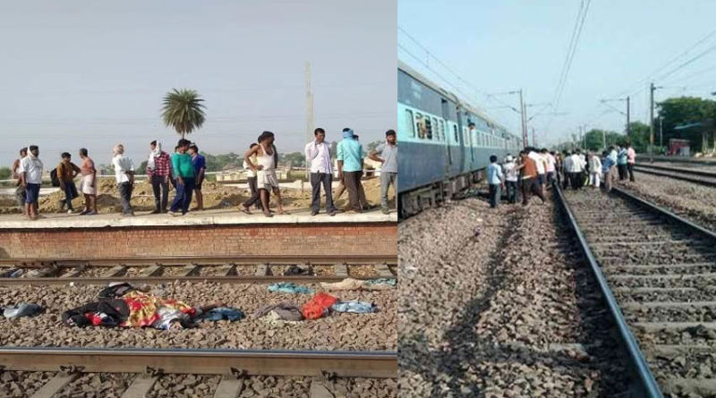 four passengers killed by rajdhani express train in etawah