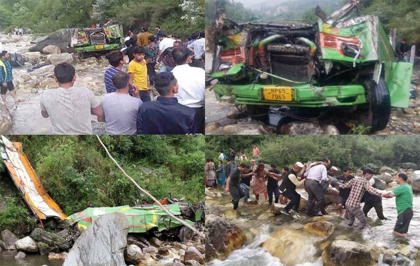private bus falls in kullu himachal pradesh