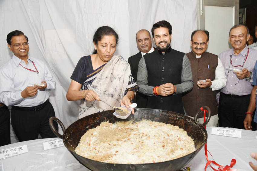 halwa ceremony budget printing starts at north block finance ministry office
