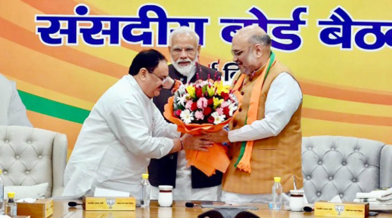 j p nadda appointed as bjp working president