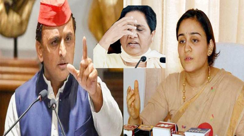 akhilesh yadav and aparna yadav targets bsp chief mayawati statement